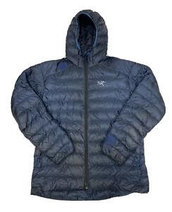 Arcteryx Men's Blue Full Zip Hooded Down Puffer Jacket Size XL