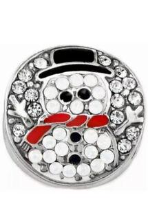 New BRIGHTON Blingy Snowman Bead Swarovski Crystals Winter Bead