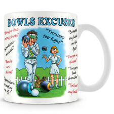 Bowls - Lawn, Green, Crown, Excuses Ceramic Coffee / tea Mug Makes an Ideal Gift