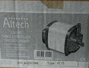 Altech 2 Bar Single Impeller Shower Pump PL75