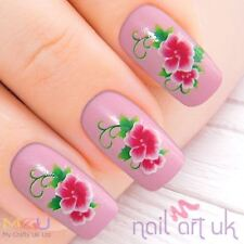 Pink Flower Nail Water Decal Stickers,, Art, Tattoos 01.03.112