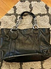 Juicy Couture Purse Shoulder Straps Leather Black Chain Link STYLE Handbag RARE