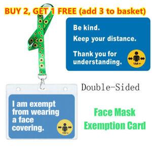 Exemption Card Asthma Exemption Card Lanyard Hidden Disability🌸