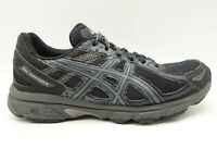 Asics Gel Venture 6 Black Gray Mesh Lace Up Athletic Running Shoes Men's 8.5