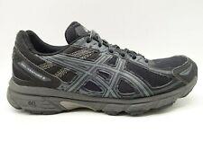 Asics Gel Venture 6 Black Gray Mesh Lace Up Athletic Running Shoes Men's 8.5