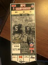 2007 NFC CHAMPIONSHIP GAME TICKET STUB/GREEN BAY PACKERS vs NEW YORK GIANTS