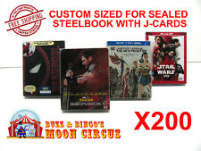 200x BLU-RAY STEELBOOK PROTECTIVE SLEEVE- BOX PROTECTORS - WITH J-CARD