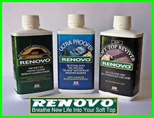 """Renovo""""BLACK""""Reviver Kit, Soft top Canvas Cleaner, Reviver, Ultra Proofer 500ml"""