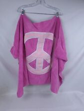 """Company Store Kids Hooded Peace Sign Beach Towel Pink """"Lexy"""" 411S 10531"""