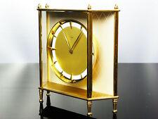 ART DECO BAUHAUS  GOLDEN  BRASS  DESK CLOCK JUNGHANS MEISTER
