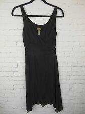 Fei Anthropologie Women's Rayon Layered Little Black Dress Sz 2 *5480
