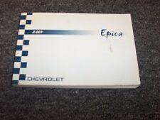 2004 Chevy Epica Sedan Owner Owner's User Guide Manual Book LT LS 2.5L