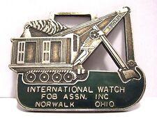 Bucyrus Front Shovel Crawler Crane Pocket Watch Fob 1975 IWFAI 1546 John Wolfe
