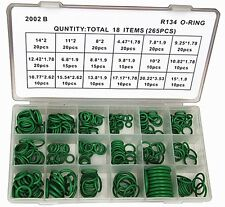 New R12/134a Car Air Conditioning A/C O-Ring Assortment Kit 265Pcs - New