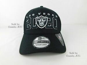 New Era Las Vegas Raiders Official NFL Draft 39THIRTY Stretch Fit Hat Black