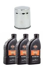 Harley-Davidson Sportster 99-present Oil and Filter change kit Chrome