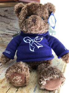 """2000 ~Gund Millenium """"Joy"""" Bear~with Purple Sweater ~Limited Edition~With Tags"""