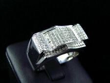 Band 3 Ct Diamond 14K White Gold Engagement & Wedding Manifold Style Ring Men's