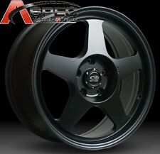 15X7 +40 SLIPSTREAM 5X114.3 BLACK WHEELS Fits Mazda 3 6 Kia Soul Toyota Rav4 MR2