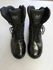 "Magnum ""M.P.A.C.T"" black leather and mesh 8 in. tall boots, Men's 12 (eur 45)"