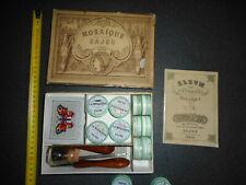 rare jouet SAJOU PARIS ENTRE 1840 et 1880  MOSAIQUE DES SALON saussine