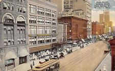 Columbus OH High St & Spring~Mechanic, Armount Bldgs~Pitts Shoes~All Gone! c1910