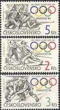 Czechoslovakia 1984 Olympic Games/Shooting/Skiing/Ice Hockey/Sports 3v (n44136)
