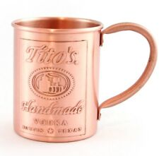 Tito's Vodka Copper Moscow Mule Mug New