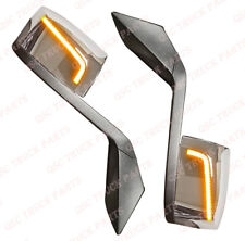 QSC Performance LED Chrome Hood Mirror L & R Pair & Mounting Kit for Volvo VNL