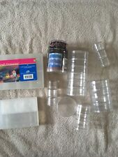 Lot of new and used Stackable and container Storage Jewelry Pill Bead Containers