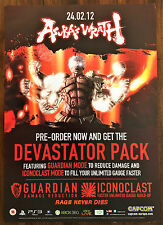 Asura's Wrath PS3 Xbox 360 Genuine Official Video Game Promo Poster 43x60cm