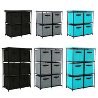 4/6 Drawers Storage Rack Clothes Shoes Organizer Rack Home Storage Bins Baskets