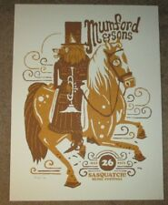MUMFORD AND SONS concert gig tour poster 5-26-13 SASQUATCH 2013 &