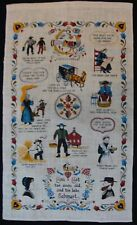 Vintage Souvenir Linen Tea Towel ~ You Get to Soon Old, and too Late Schmart