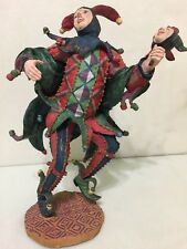 """Duncan Royale """"Jester"""", 11"""" Tall, Rare (Foot in the Air) New & Signed #9835, Coa"""