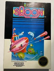 Sqoon NES Box And Manual Only Nintendo