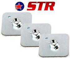RACING Imbracatura/Cintura Di Sicurezza Montaggio Piastra Posteriore Supporto, Occhiello Piastre Pezzi (x3)