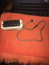 70's GIBSON Mini Humbucker Guitar Pickup with Surround and Plate, reads 6.28