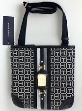 Tommy Hilfiger Purse Crossbody Womens Jacquard Xbody Zip Close Shoulder Bag New