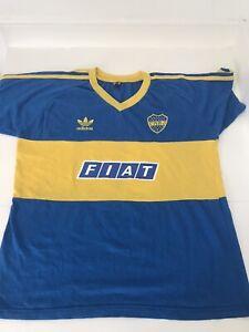 Boca Juniors 1991 Home t-shirt - Fiat - Sevel - Diego Maradona - Medium