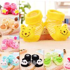 0-12 Months Baby Girl Boy Anti-slip Socks Cartoon Newborn Slipper Shoes Boots