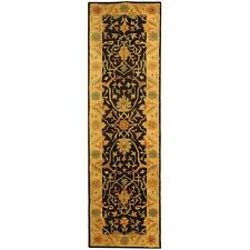 Hand-Tufted Antiquity BLACK Wool Rug 2' 3 x 12' Runner