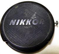 "Nikon Lens Cap ""Nikkor"" 52mm all black                   Free Shipping worldwide"