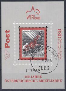 2000 Basilisken Block 15 mit Stempel WIPA 2000 - teuerster Stempel