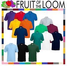 Fruit of the Loom Plain Cotton Mens Polo Shirts T-Shirt Short Sleeve Tshirt
