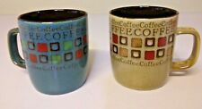 Distinctive Mr. Coffee Cups, set of two, spoon rest in handle!