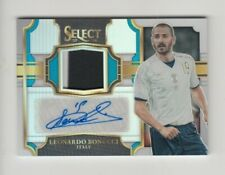 2017-18 Panini Select Soccer Jersey Auto card :Leonardo Bonucci #48/75