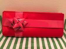 NEW KATE SPADE DELAUNEY TABITHA CHERRY RED BOW CLUTCH/SNAKECHAIN-WKRU1703