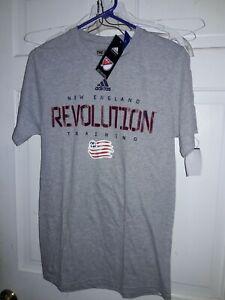 New England Revolution Training Major League Soccer Adidas Revs T-shirt MLS  S