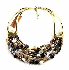 Jay Strongwater Victoria Nine-Strand Clasp Bronze Necklace